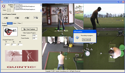 Quintic 4 Camera LIVE Capture